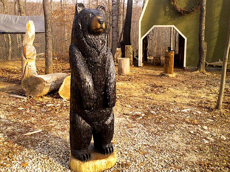 Brown and black bears group sleepy hollow art