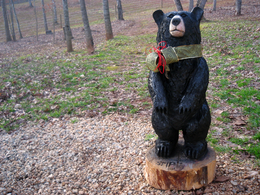 Chainsaw bear quot puddin merry christmas sleepy hollow art