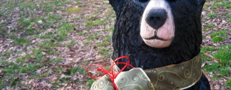 "Chainsaw Bear ""Puddin"" detail"
