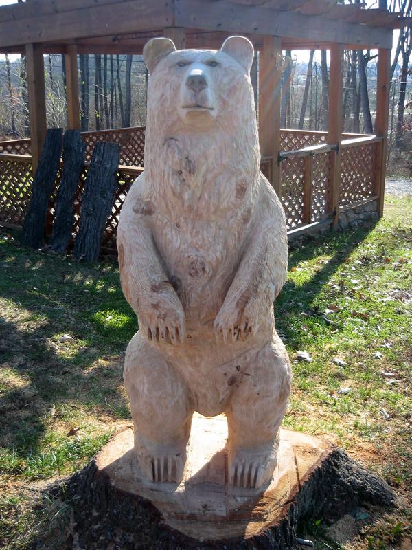 "Chainsaw bear ""staton front sleepy hollow art"