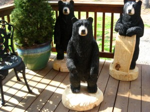 Chainsaw Bear, Kenneth, Lucinda and Marx