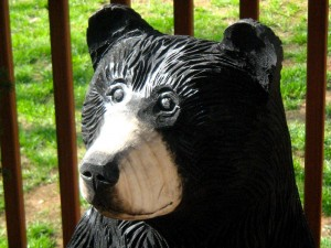 Chainsaw Bear, Kenneth, close up profile