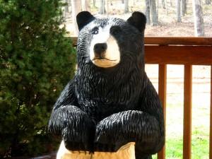 Chainsaw Bear, Marx, close up