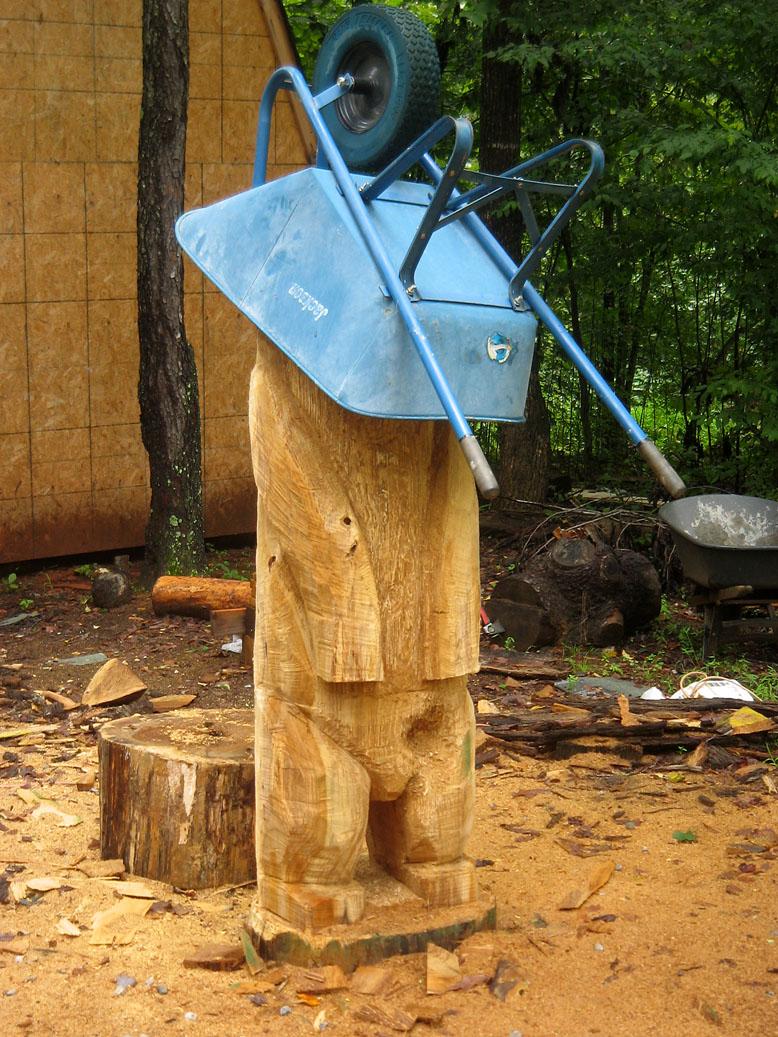 Chainsaw bear rain gear sleepy hollow art