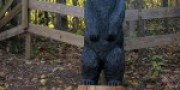 Big Chainsaw Carved Black Bear, Thomas