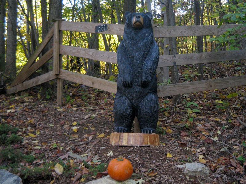 Big chainsaw carved black bear thomas sleepy hollow art