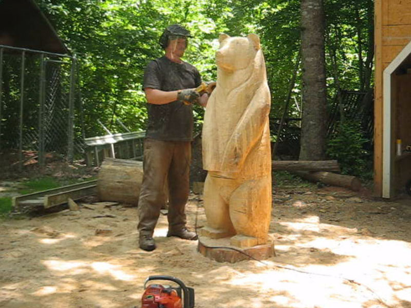 Big black bear thomas in progress sleepy hollow art