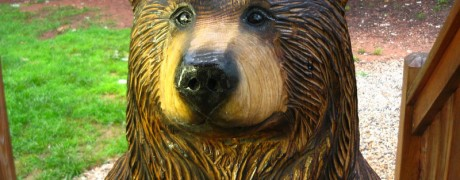 Chainsaw Sculpture, Brown Bear, Poppyseed