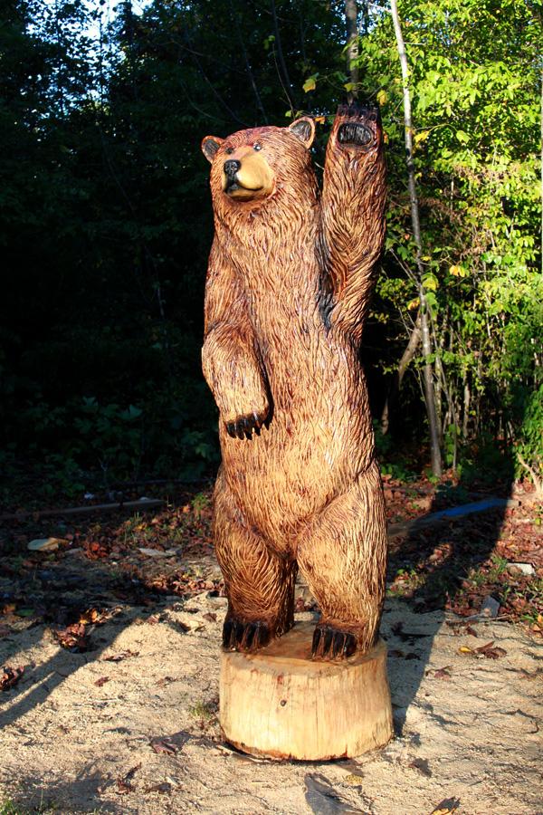 Outdoor Wood Sculpture