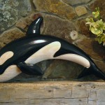 Wood Killer Whale Chainsaw Sculpture