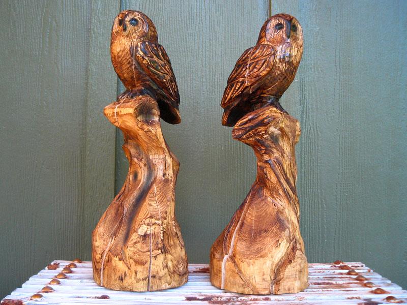 Rustic perched owl sleepy hollow art