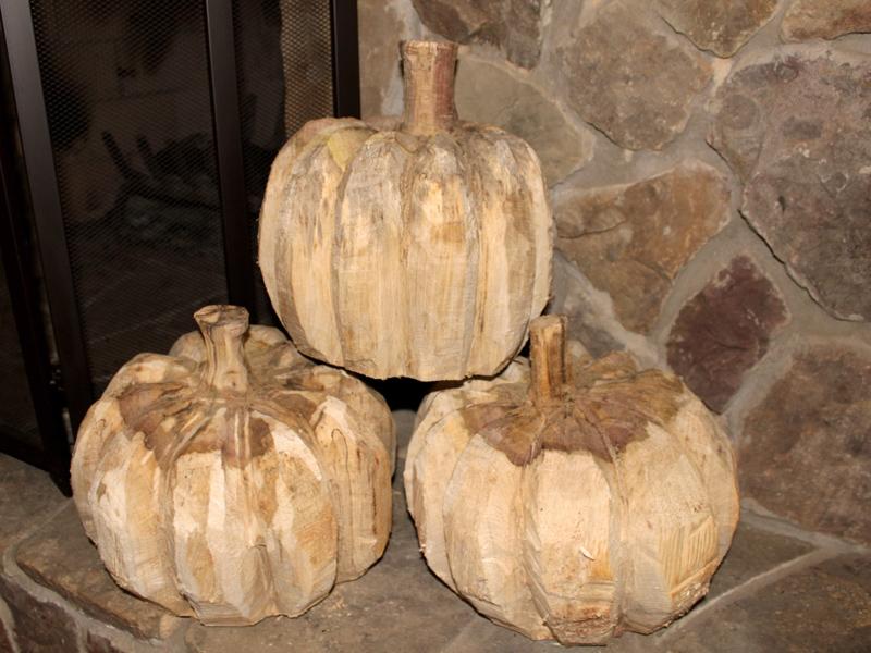 Pumpkins and pine trees u sleepy hollow art