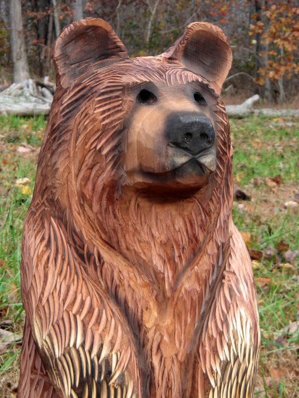 Cedar wood bear cubs sleepy hollow art