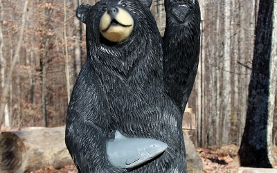 Waving Bear with Catfish