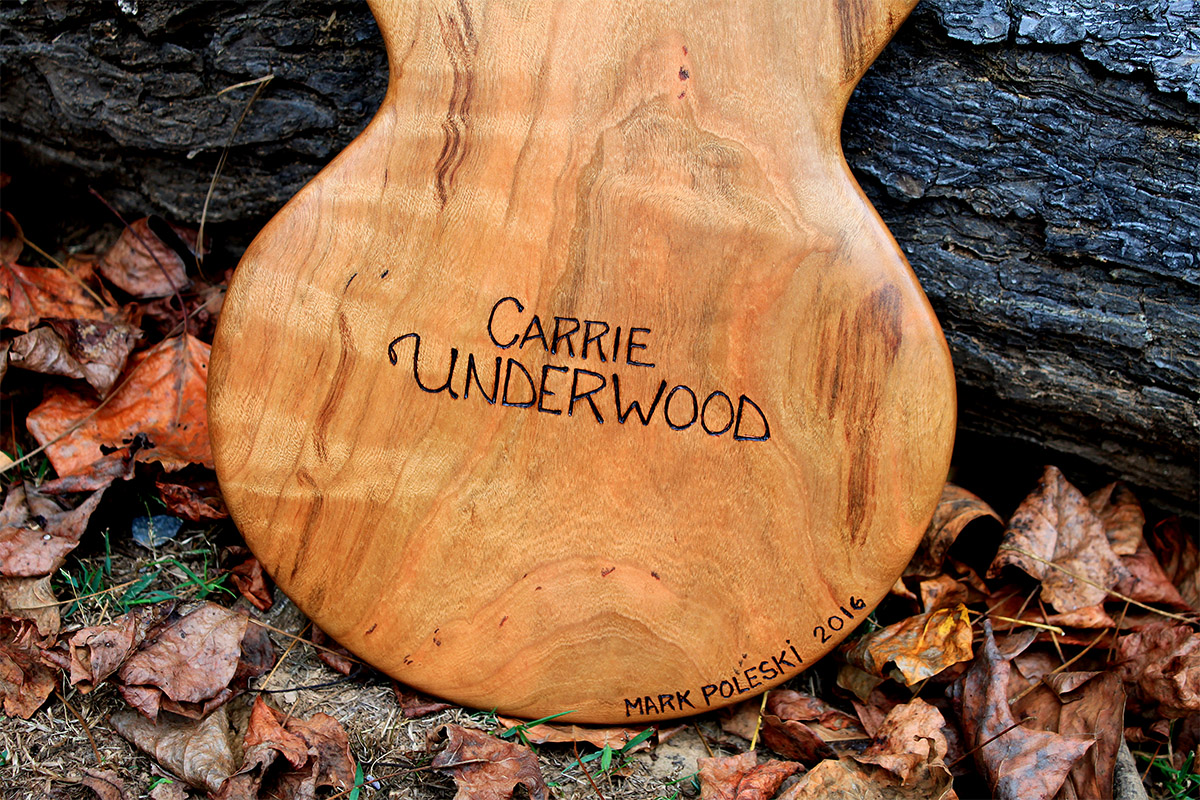 A guitar for Carrie Underwood